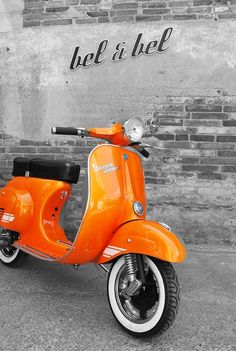 Orange vespa -- 40th birthday...