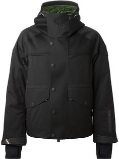 Moncler Grenoble Hooded Padded Jacket - Smets - Farfetch.com Mens Activewear, Men's Wardrobe, Mens Trends, Latest Mens Fashion, Work Fashion, Padded Jacket, Hoods, Moncler, Clothes