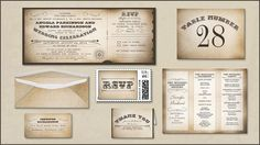 VINTAGE WEDDING | Wedding and Party Invitations