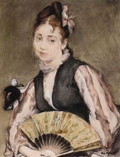 Portrait of Jeanne Gonzales Eva Gonzalès - circa Maurice Utrillo, French Impressionist Painters, Alfred Stevens, Edouard Manet, Museum Of Contemporary Art, Modern Art, Jeanne, Impressionism Art, Claude Monet