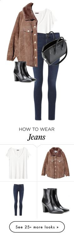Untitled #10420 by alexsrogers on Polyvore featuring H&M, Citizens of Humanity, Acne Studios, Yves Saint Laurent and Givenchy