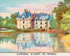 Francia, Azay-le-Rideau 4 Postcards, Painting, Art, Art Background, Painting Art, Kunst, Paintings, Performing Arts, Painted Canvas