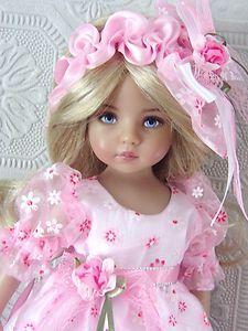 Custom handmade pink lace dress set