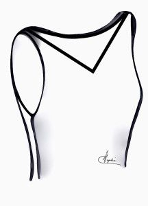 A wide V neckline will broaden shoulders, lengthen neck and help balance wide hips.  The deeper the V the more flattering especially on larger busted women.  Older women must be aware of the decolletage as often not attractive with wrinkles and crepe paper skin.