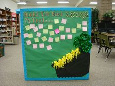 """Part of our March library display!  It reads """"Books I've Been Lucky to Read."""""""