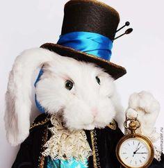 """Купить Белый кролик из """"Алисы в стране Чудес"""" - белый кролик, часы, время"""