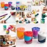DIY Broken Crayons Into Lovely Color Block Candles