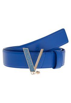 Versace VITELLO Pasek royal blue/oro chiaro