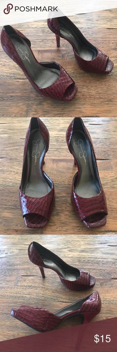 Jessica Simpson Open Toe Pump Jessica Simpson Open Toe Pump Jessica Simpson Shoes Heels