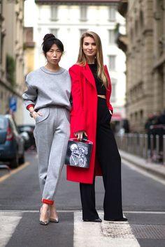 #OksanaOn & #MariaKolosova looking suitably fabulous in Milan.