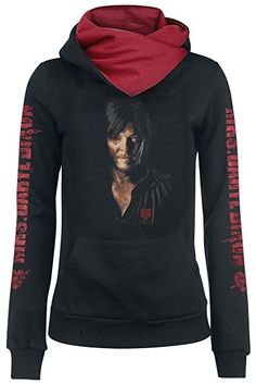 The Walking Dead Daryl Dixon - Portrait Girl-Kapuzenpulli schwarz XS