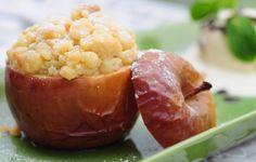 Spiced Stuffed Apple Crumble