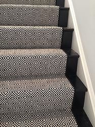 Black and Beige Runner Rug Look at This Beautiful Custom Stair Runner Black Diam. : Black and Beige Runner Rug Look at This Beautiful Custom Stair Runner Black Diamond by Hallway Carpet Runners, Cheap Carpet Runners, Stair Runners, Carpet Runner On Stairs, Hallway Runner, Best Carpet For Stairs, Rug Runners, Stairway Carpet, Black And White Stairs