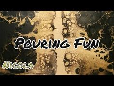Pouring 31: Einkaufszettel für Starter und Swipe Technik schwarz/gold für Anfänger (deutsch) - YouTube Fluid Acrylics, Acrylic Pouring, Acrylic Art, Painting Tips, Deco, Art Tutorials, Abstract, Fun, Inspiration