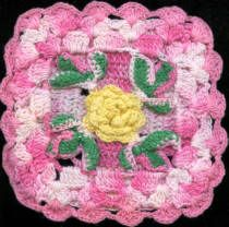 Sharon's Antiques Vintage Fabrics - Kitchen Kitsch Crocheted Potholders