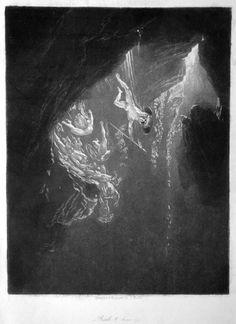 The Fall of the Rebel Angels. John Martin mezzotint.