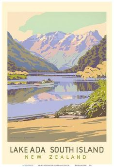 Art Print: Lake Ada - South Island, New Zealand by Marcus King :