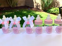 12 small 3.5 Pink Baby shower favors pink by Marshmallowfavors