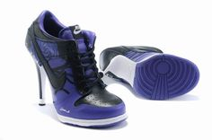 WMNS Nike Dunk Heels Shoes Low Purple Black Nice Buy Online