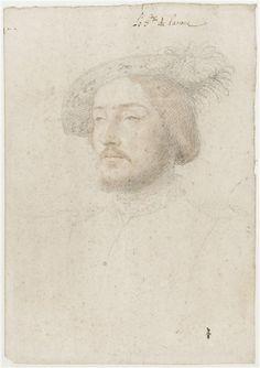 Portrait de Charles de Cossé, comte de Brissac . . .c. 1537. . . Clouet Jean (1475/1485-1540)