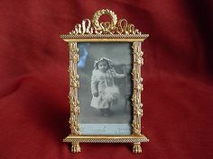 SUPERB ANTIQUE FRENCH GILT BRONZE PHOTO FRAME,EMPIRE STYLE,LATE 19th CENTURY
