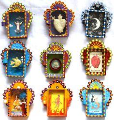 Matchbox nichos - wholesale set of 5 - Mexico Import Arts