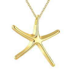 Hot Popular Copper Starfish Necklace Gold Plated For The Best Gift #Unbranded