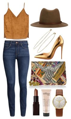 """""""180. I want this clutch"""" by briax ❤ liked on Polyvore featuring H&M, rag & bone, Junghans, FUNKIS, Christian Louboutin, Laura Mercier, philosophy, Dean Harris, women's clothing and women"""