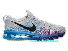 Nike Flyknit Air Max Chaussures Nike Officiel Pour Femme Gris - bleu - violet l620469-005