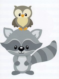 Nursery Art, Kids Wall Art, Baby Boy Art Decor, Baby Boy Room Art, Woodland Nursery, Raccoon,Owl, 8x10 Print on Etsy, $12.00
