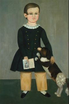 Samuel Miller Young Boy with Dog circa 1850 Fine Arts Museums of San Francisco