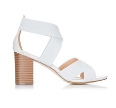 Grey Mid Heel Sandal.  Product info  Nothing says comfort like elasticated uppers have it all this season with these gorgeous soft grey block heel sandals. The light grey and natural heels make these sandals awesome for summer. Wear with your favourite summer jeans and dresses.