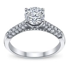 Jeff Cooper 14K White Gold Diamond Engagement Ring Setting