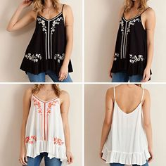 """""""Ruffled Tank with Embroidery"""" perfect for summer outfit ☀️🌴😘 Only @classicpaperdoll #cpdfave #ootd #embroidery #bohochicstyle #인스타스타일 #보호스타일 #여름코디"""