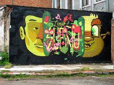 Street art in Gent, Belgium by BUE and Smithe #buethewarrior #smithe #belgium #streetart