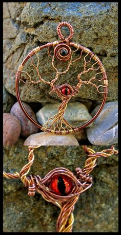 'Eye in the tree' pendant