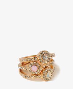 #Forever21                #ring                     #Rhinestone #Frame #Ring  Rhinestone Frame Ring Set                           http://www.seapai.com/product.aspx?PID=13465