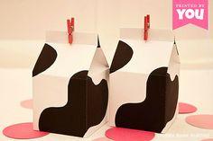 Milk Carton Favor Box : DIY Printable Cow by PiggyBankParties