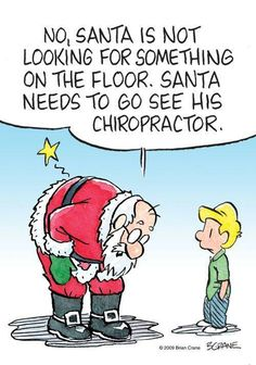 oh boy santa is coming to visit us chiropractic humor family