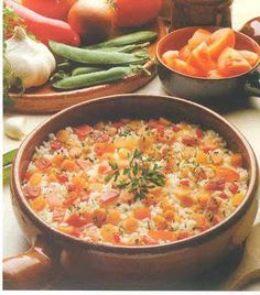 Como Hago Arroz Campesino, Recetas de Cocina Colombianas Colombian Food, Rice Dishes, Cheeseburger Chowder, Macaroni And Cheese, Curry, Soup, Yummy Food, Vegetables, Eat