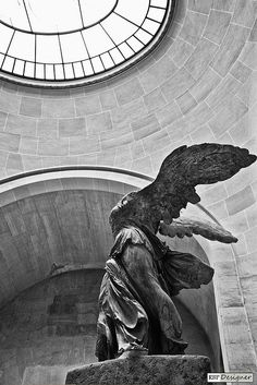 The Nike of Samothrace in all her beauty and glory... A raw force standing still for over 2 millennia claiming her victory over anyone who crosses her path