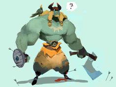 The slow viking for Character Design Challenge. o.O