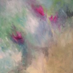 Original Abstract Art by Kellie Morley | Birds of Paradise 48x48