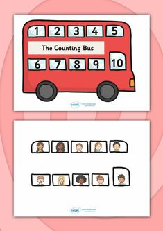 Twinkl Resources >> Interactive Bus Counting Activity >> Printable resources for Primary, EYFS, and Counting Activities Eyfs, London Activities, Toddler Learning Activities, Maths Classroom Displays, Transport Topics, Transportation Activities, Math Work, Fall Preschool, Teaching Aids