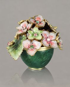 """""""Carla"""" Hydrangea Box by Jay Strongwater at Horchow."""