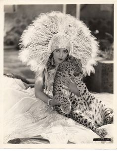 1927 BEBE DANIELS, LEOPARD. Love this shot. But do not think Leopards should be pets. They are beautiful wild animals.