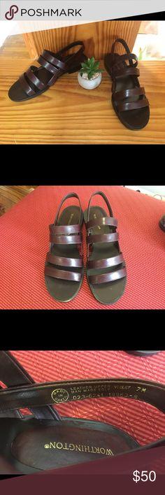 NWOT Worthington sandals Dark violet color Trendy strapped sandals Worthington Shoes Sandals
