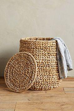 Abaca Laundry Basket #anthropologie