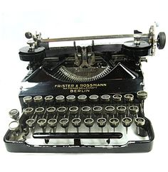 Frister & Rossmann Schreibmaschine 1912