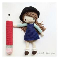 Isabelle Kessedjian crochet doll #amigurumi